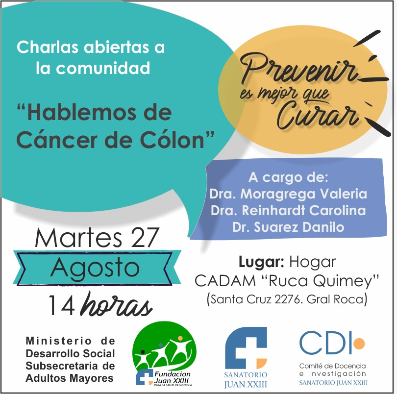 charla cancer de colon   agosto 2019